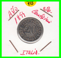 ITALIA - MONEDA DE 20 CENTESIMOS -AÑO 1894  UMBERTO - 1861-1946 : Reino