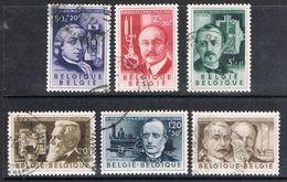 BELGIQUE N°973 A 978  Inventeurs, - Gebraucht