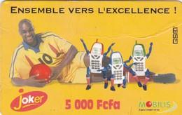 Cameroon, 5 000 Fcfa, Mobilis, Joker, Football, 2 Scans    Please Read - Cameroon