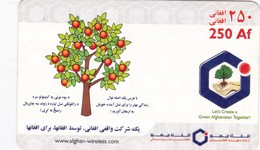 Afghanistan, Afghan Wireless (Mobile Refill), Let's Create A Green Afghanistan Together!, 2 Scans. - Afghanistan
