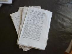 Lot 8 Bulletins Des Lois Thème Presse Journaux Crieurs Publics Journaux Périodiques Afficheurs - Decreti & Leggi