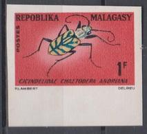 Madagascar Malagasy 1966  N° 420 Cicindelidae  Imperf ND MNH - Insekten