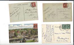 SEMEUSE 1918-1919 Cachets Allemands En Alsace Lorraine Après Fin Guerre 14-18 ( 11 Cpa ) - Postmark Collection (Covers)