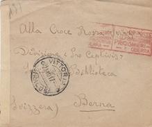 Vittoria.1917. Annullo Guller VITTORIA + RAGUSA *, Su Lettera Affrancata Al Verso + VERIFICATO PER CENSURA - 1900-44 Vittorio Emanuele III