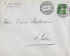 HEIMAT ST.GALLEN - 1910 Brief Dr. Med.Hübscher Gossau - Suisse