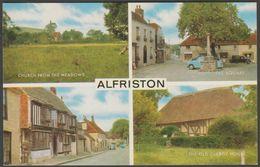Multiview, Alfriston, Sussex, C.1960s - Salmon Postcard - England