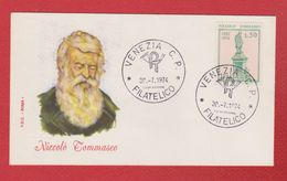 Enveloppe Premier Jour / Niccolo Tommaseo  / Venezia / 30-7-1974 - Affrancature Meccaniche Rosse (EMA)