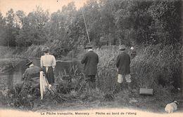 91 - Mennecy - La Pêche Tranquille - Pêche Animée Au Bord De L'Etang - Mennecy