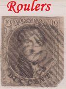 RéfP. 138 - Belgique - 1858 - Obl. - COB 10 - 102 Roulers  - - 1858-1862 Medallions (9/12)