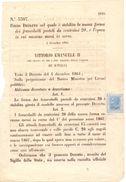 1864 DECRETO REGIO In Cui Si Stabilisce Forma Del Francobollo Da 20c  019 - Storia Postale