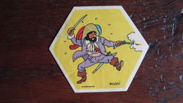 TINTIN AUTOCOLLANT LA VACHE QUI RIT LE CHEVALIER DE HADDOCK   HERGE - Tintin