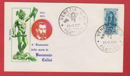 Enveloppe Premier Jour / Benvenuto Cellini / Venezia / 20-3-1971 - Affrancature Meccaniche Rosse (EMA)