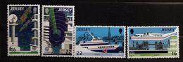Jersey 1988 N° 429 / 32 ** Europa, Transport, Avion, Tour De Contrôle, Londres, Radar, Saint-Malo, Big Ben, Tower Bridge - Jersey