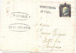 1859 Piego Con Testo Da Messina Per Patti Con 2 Grana Di Sicila  LEGGI NOTA  019 - Sicilia
