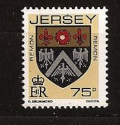 Jersey 1987 N° 399 ** Courant, Blason, Blasons Des Familles De Jersey, Remon, Aigle, Lys, Armoiries - Jersey