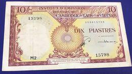 INDOCHINA-10 PIASTRES - CAMBDGE 1953 - Indochina