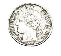 1 Franc - Type Cérès - France - 1850 BB - Strasbourg - TB - Rare - H. 1 Franc