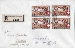 HEIMAT BERN → 1939 R-Brief Lützelflüh-Goldbach Nach Baden - Lettres & Documents