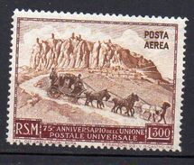 1951 San Marino Anniversario UPU N. 95 Nuovo MLH* - Poste Aérienne
