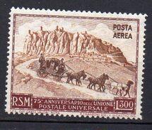 1951 San Marino Anniversario UPU N. 95 Nuovo MLH* - Luchtpost