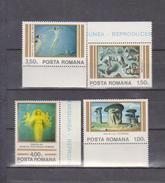 ART PAINTINGS  ROMANIA 1982 , MI 3892-95 - Art