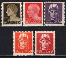 ITALIA LUOGOTENENZA - 1945 - IMPERIALE SENZA FASCI - SENZA FILIGRANA - NUOVI MNH - 5. 1944-46 Lieutenance & Umberto II