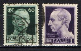ITALIA LUOGOTENENZA - 1944 -IMPERIALE SENZA FASCI - SENZA FILIGRANA - USATI - 5. 1944-46 Luogotenenza & Umberto II