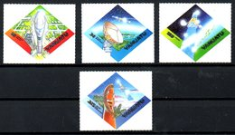 VANUATU. N°1089-92 De 2000. Satellite Intelsat 802/Ariane. - Space