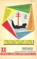 [DC9267] CPA - XX CAMPAGNA NAZIONALE ANTITUBERCOLARE 1957 - Non Viaggiata - Old Postcard - Salute