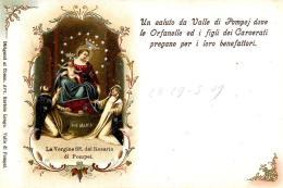 [DC9271] CPA - LA VERGINE SS. DEL ROSARIO DI POMPEI - Non Viaggiata - Old Postcard - Vergine Maria E Madonne