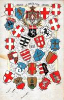 [DC9272] CPA - STEMMI CENTO CITTA' PIEMONTE LOMBARDIA -IN RILIEVO - EDIZ. MAZZINGHI GORGERAT MILANO - NV - Old Postcard - Histoire