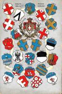 [DC9272A] CPA - STEMMI CENTO CITTA' PIEMONTE LOMBARDIA - IN RILIEVO - EDIZ. MAZZINGHI GORGERAT MILANO - V - Old Postcard - Histoire