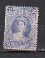 Queensland  Victoria 2 Shilling Bleu YT N°46 - 1860-1909 Queensland