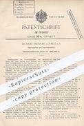 Original Patent - Dr. Hans Raebiger , Halle  Saale , 1905 , Salbenspritze Mit Vorratsbehälter   Spritze , Arzt , Medizin - Historische Dokumente