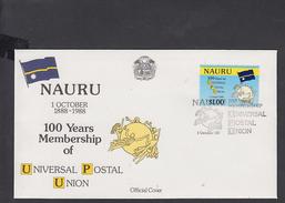 NAURU  1988 - FDC -Yvert 350 - Annullo Speciale  Illustrato  U.P.U. - Nauru