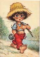 Pêcheur - Illustration : Michel Thomas - Cartes Humoristiques
