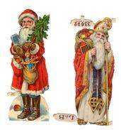 2 Chromos Découpi L & B, Père Noel, Weihnachten, Sapin, Hauteur: Env.: Env. 11,5 Cm - Motiv 'Weihnachten'
