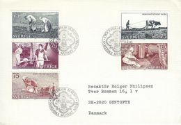 Agriculture - Farm Works In Sweden. Fdc.  H-1226 - Agriculture