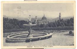 FIRENZE PANORAMA DEL GIARDINO DI BOBOLI -VIAGGIATA FP - Firenze