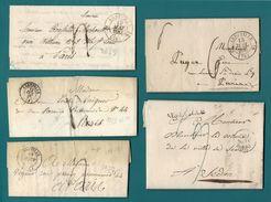 Somme - Abbeville. Collection De 5 Documents. - Marcophilie (Lettres)