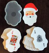 Ancien Jeu De 52 Cartes En Forme De Tête De Père Noël / Santa Claus - Other