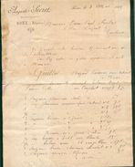 ALGERIE BONE FACTURE AUGUSTE SECRET REPRESENTANT COMMERCE MAI 1895 B/TB - France