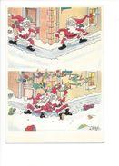 18377 -  Père Noël Dans La Course La Chute Aquarelle Michel Aeroflynn - Santa Claus