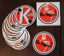 Ancien Jeu Publicitaire De 32 Cartes Circulaires Pin-up Cigarettes Lucky Strike - Jeux De Société
