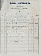 ILLIERS FELIX RENARD PUISATIER ANNEE 1965 EXECUTION D UN PUITS A MASLES ORNE AVEC RECU - Sin Clasificación