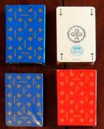 Set 2 Anciens Jeux Publicitaires 54 Cartes 1 Rouge & 1 Bleu Tête De Chat SEV MARCHAL - Jeux De Société