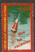 FRANCE    -   1999 .  Y&T N° 3243 Oblitéré  Cachet Rond .    Vacances  /  Pêche à La Ligne - Frankreich