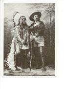 18379 -  Sitting Bull And Buffalo Bill 1885 Reproduction Paul Harbaugh 1982 - Indiens De L'Amerique Du Nord