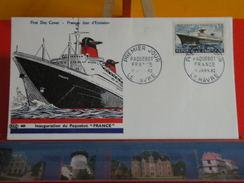 Coté 11€ > Inauguration Du Paquebot France > 11.1.1962 > Le Havre (76)> FDC 1er Jour - 1960-1969