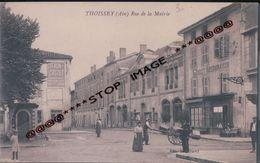 THOISSEY  RUE DE LA MAIRIE  FACTEUR CHARETTE  MICHELET RESTAURATEUR PUB CITRON CROSET  VERS 1900 - France